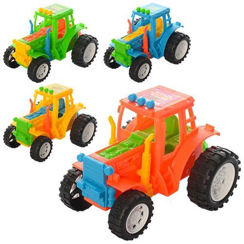 Трактор 4цвета, 11см, в кульке, 10,5-8-7см, YB818-9