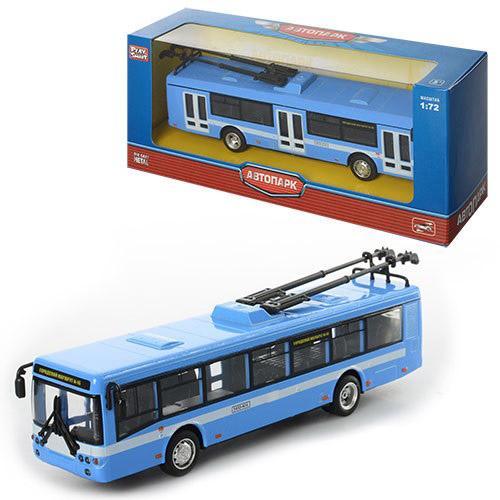 Троллейбус 6407B (96шт) металл, инер-й, 16-4,5-3,5