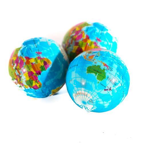 """Мяч фомовый 3"""" глобус, GQ19735"""
