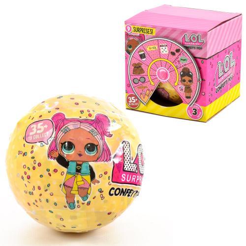 Кукла в шаре конфети, 886-6