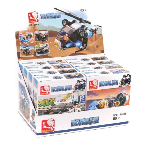 Конструктор SLUBAN M38-B0638 (96шт) полиция, транс, M38-B0638
