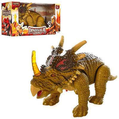 Динозавр 138-3 (36шт) 32-17-12см, ходит,звук, свет,п