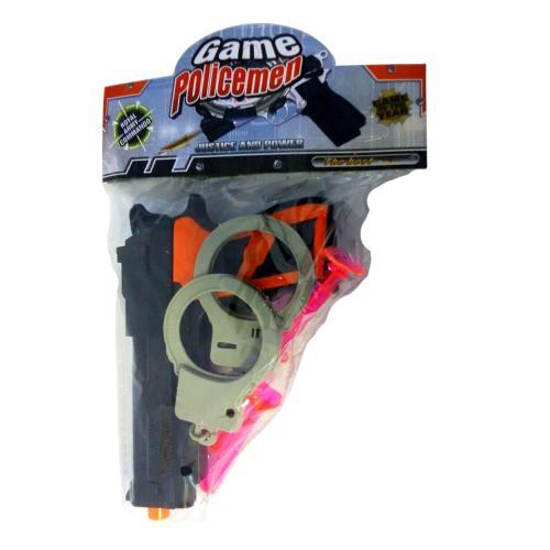 Полицейский набор (пистолет,наручники), в паке, 4069-13-1007