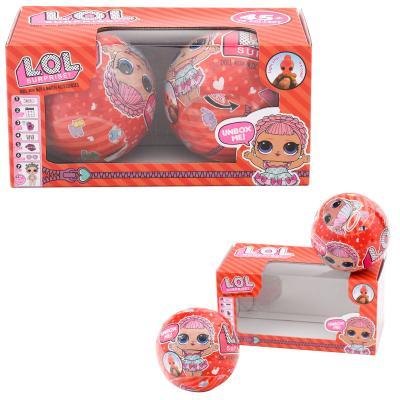 Куколка LOL в красной кор-ке, 2 шара