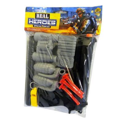 Полицейский набор: пистолет, граната, бинокль