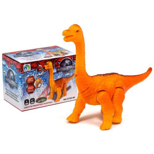 Динозавр в коробке на батарейках, 9789-86