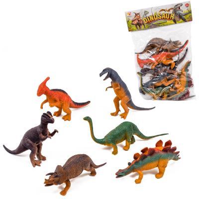 Динозавр резиновый в кульке 6 шт