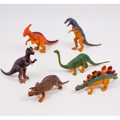 Динозавр резиновый в дисплее 6 шт, 2079A