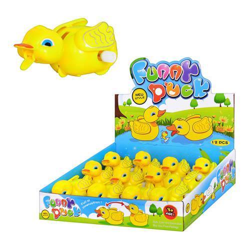 Заводная игрушка 1001 (72шт) уточка, в кор-ке, 25, 1001-2