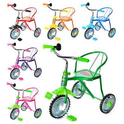 Велосипед 3 колеса, хром,6 цветов