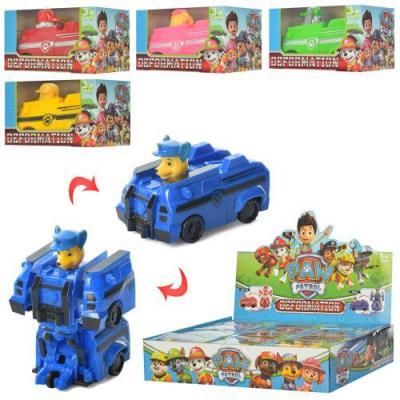 Трансформер 9966B (360шт) ЩП,10см,трансп+робот,в к, 9966B