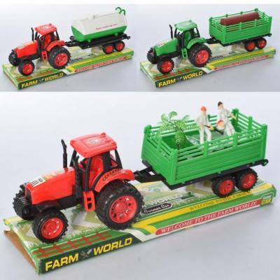 Трактор 575-129-133-134 (96шт) инер-я, с прицепом, 575-129-133-134