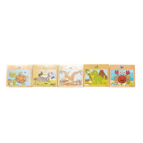 Деревянная игрушка Пазлы 12дет, микс видов, в куль, MD 1090