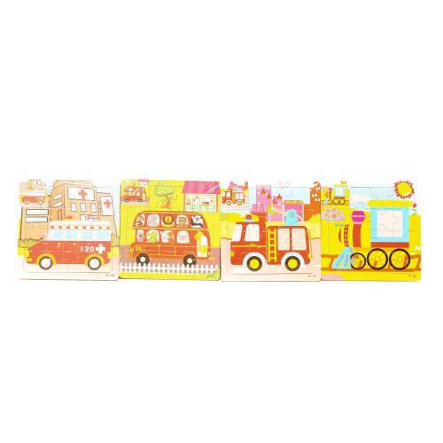Деревянная игрушка Пазлы транспорт, микс видов, в, MD 1222