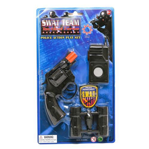 Набор полицейского 8248H (108шт) пистолет13см на п, 8248H