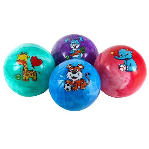 Мяч детский 9 дюймов, ПВХ, 70г,одностикерный,микс, MS 1340