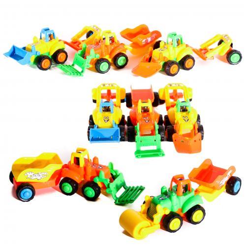 Трактор инер-й, стройтехника, с прицепом, 22см, 4, YB818-18