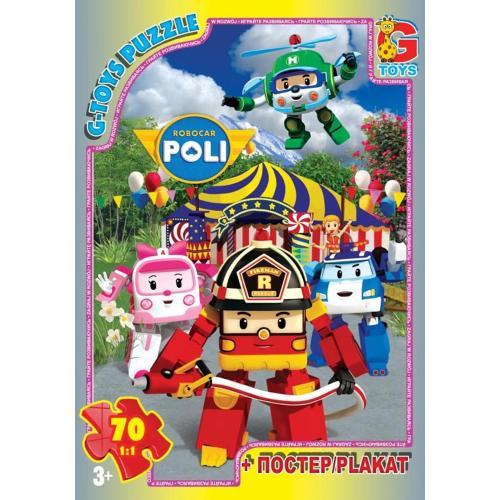 """Пазли ТМ """"G-Toys"""" із серії """"Робокар Поллі"""", 70 еле, GP-RR067434"""