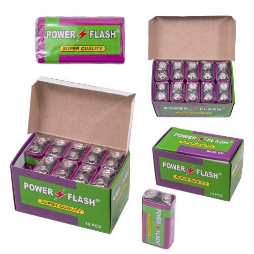 Батарейка крона Power Flash (цена за штуку), 6F229V