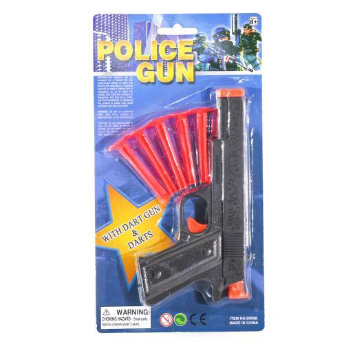 Пистолет 9009B (288шт) 17см, пули-присоски 5шт, на, 9009B