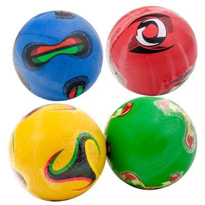 Мяч футбольный, ПВХ, 280-300г,четыре цвета в ящике