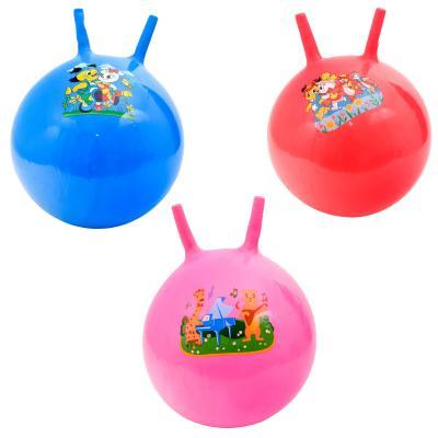 Мяч для фитнеса,резиновый с рожками,четыри вида в