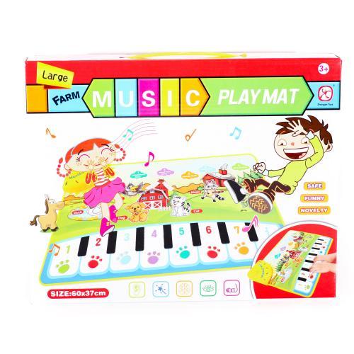 Коврик 60-37см,пианино,муз,зв.животн,свет,на бат-к, LT3902