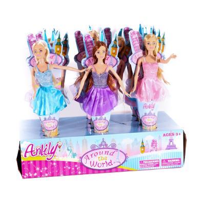 Кукла 30см, 12шт(цвета) в дисплее, 42-23-10см