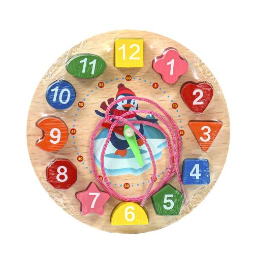 """Деревянная игрушка """"Часы"""", MD 1617"""