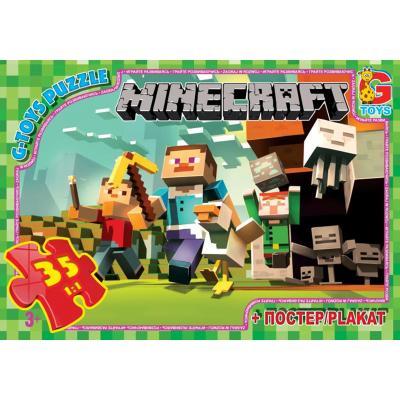 """Пазли из серии """"Minecraft"""" (Майнкрафт), 35 елементов"""