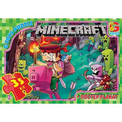 """Пазлы из серии """"Minecraft"""", 35 элементов"""