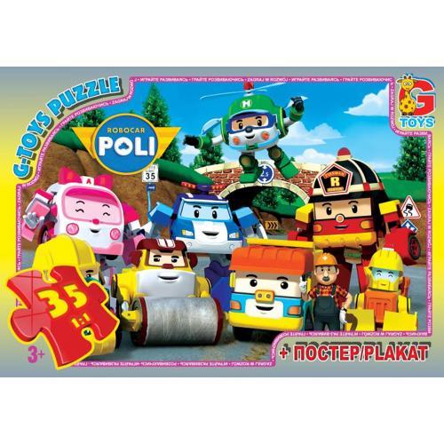 """Пазли ТМ """"G-Toys"""" із серії """"Робокар Поллі"""", 35 еле, RR067432"""