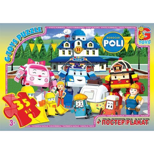 """Пазли ТМ """"G-Toys"""" із серії """"Робокар Поллі"""", 35 еле, RR067439"""