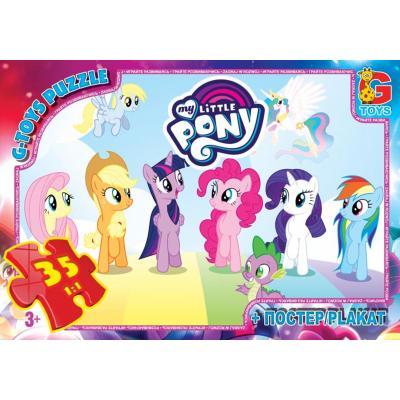 "Пазлы из серии ""My little Pony"" (Моя маленька поні), 35 елементов"