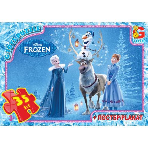 """Пазлы из серии """"Frouzen"""" (Ледяное Сердце), 35 елементов, FR004"""