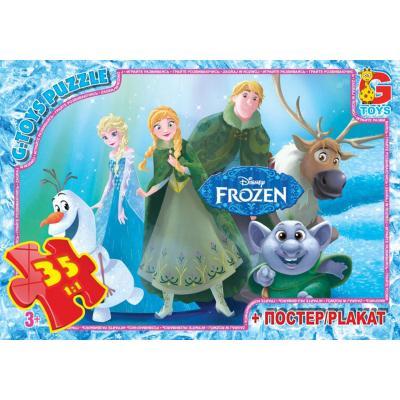 """Пазлы из серии """"Frouzen"""" (Ледяное Сердце), 35 елементов"""