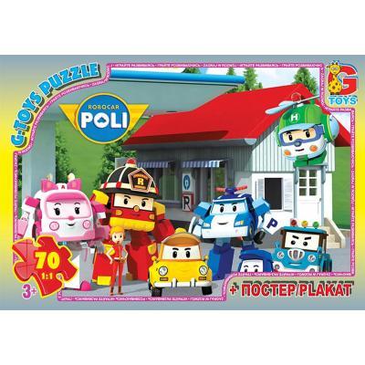 """Пазли ТМ """"G-Toys"""" із серії """"Робокар Поллі"""", 70 еле"""