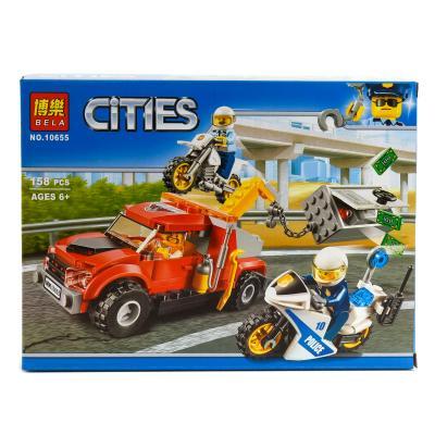 """Конструктор Bela Cities """"Побег на буксировщике""""158 деталей"""