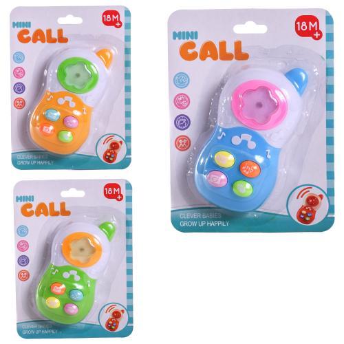 Телефон 9209 (240шт) 13см, муз, свет, на бат-ке, 3, 9209