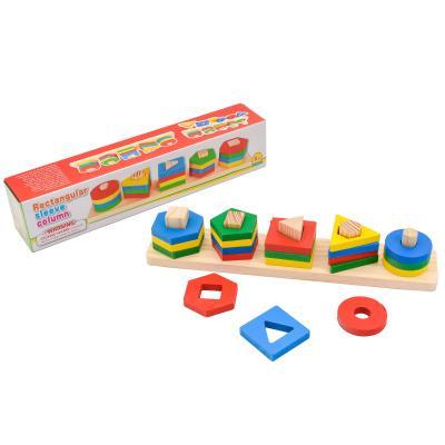 Деревянная игрушка геометрика в коробке