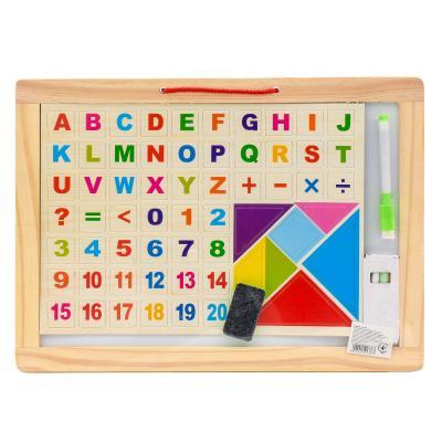 Деревянная игрушка доска для рисования с буквами