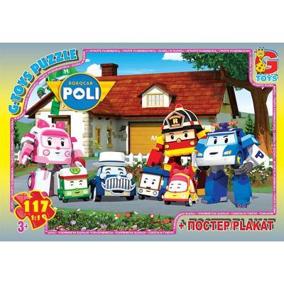 """Пазли ТМ """"G-Toys"""" із серії """"Робокар Поллі"""", 117 ел"""