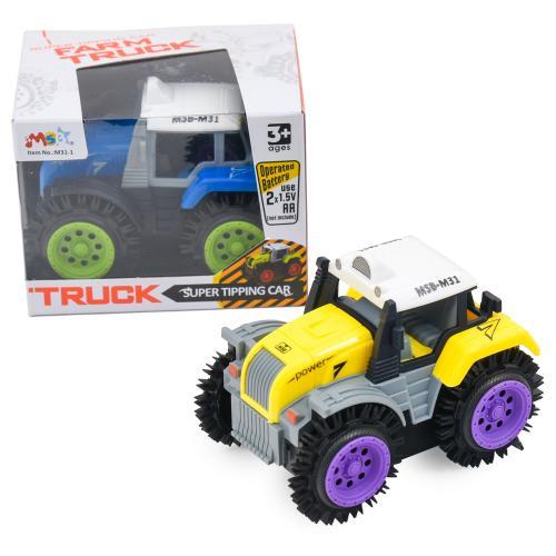 Трактор перевертыш, 2цвета, в кор-ке, 11-8-8см, M31-1