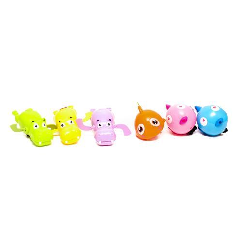 Водоплавающая игрушка 11см, заводная, животное, 3в, 557-8-9