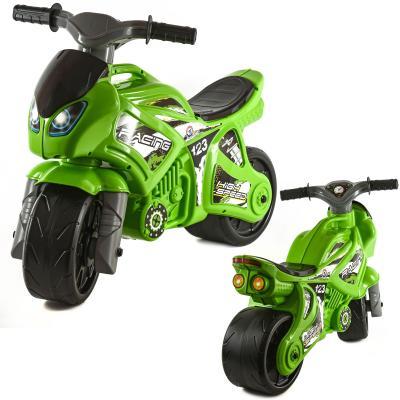 Мотоцикл салатовый в кульке
