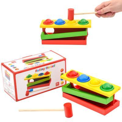 Деревянная игрушка стучалка,4 шарика,молоточек в к