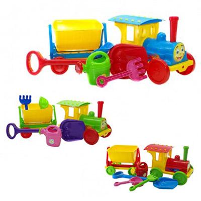 Поезд-конструктор з песоч. набором №1