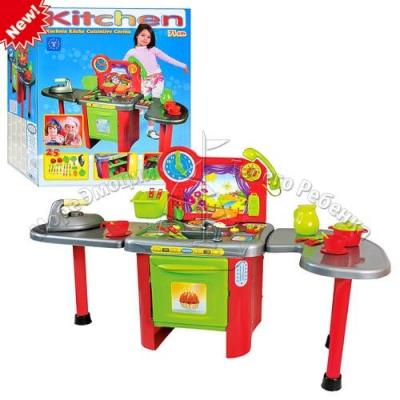 Кухня столешница, телефон, кухонные принадлежности