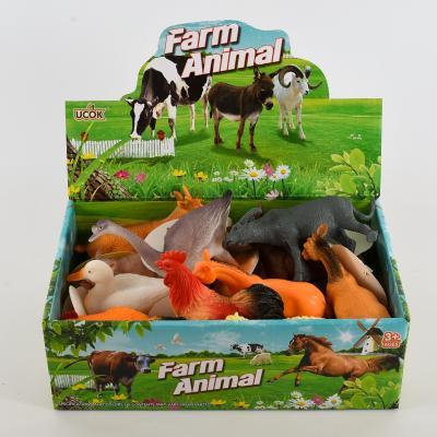 Животные N 588-2 (288шт) домашние, 12см, 12шт в ди, N588-2