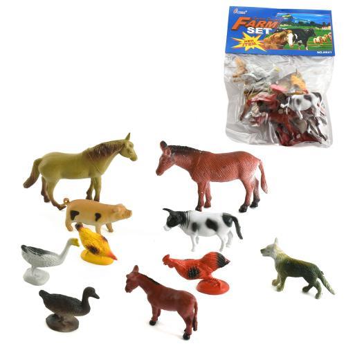 Животные Н 641-1-3 (192шт) домашние, 3 вида, 10шт, H 641-3